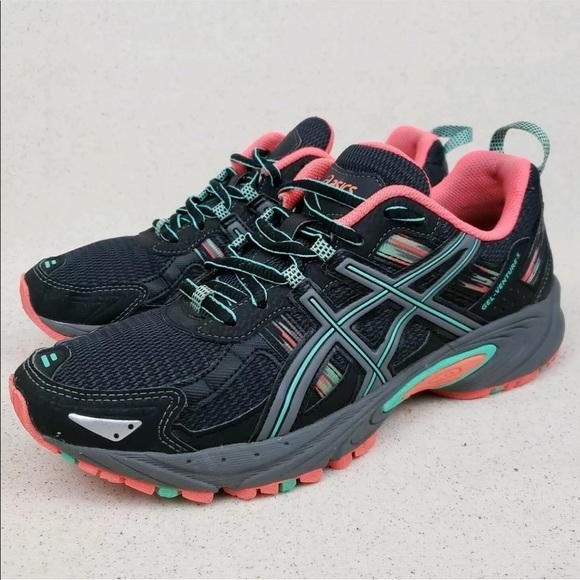 Asics Gel Venture 5 Black Athletic Running Shoes